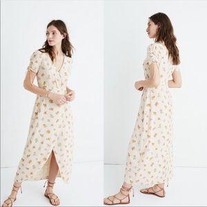 NWOT Madewell Silk Maxi Dress in Field Bouquet